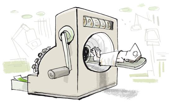 illustration CT scan cash register