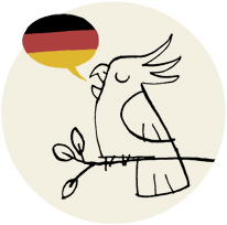 Illustration German cockatoo