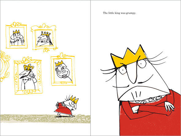 illustration Grumpy Little King is grumpy indeed
