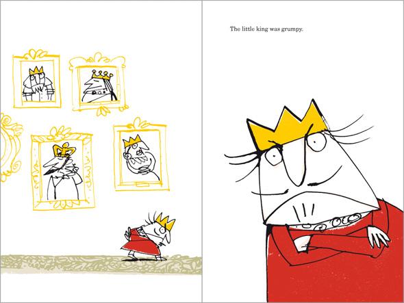 illustration Grumpy Little King is grumpy indeed