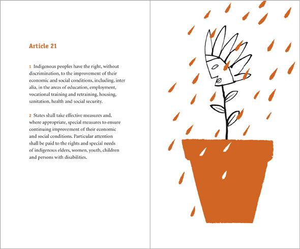 illustration watering flower in pot