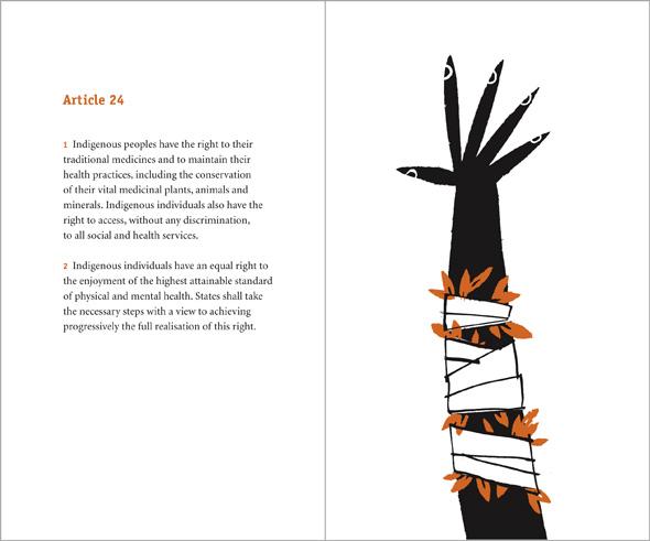 illustration bandaged arm