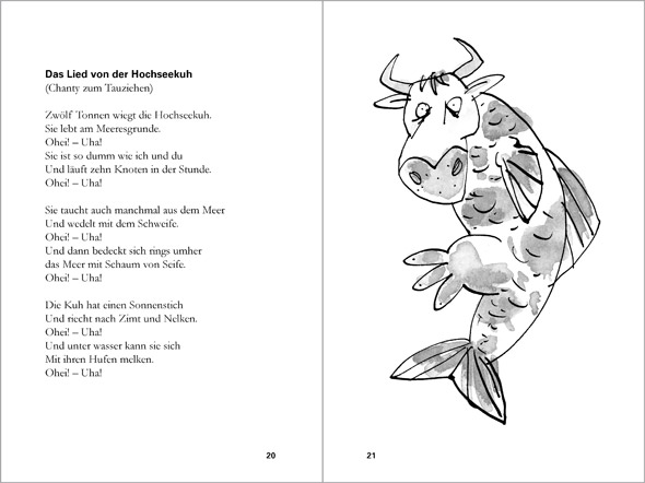 illustration cow with fins