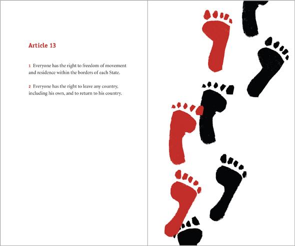 illustration footsteps